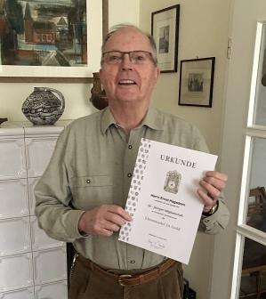 60 Jahre Mitgliedschaft - Ernst Hagedorn©Nienburger Schützencorps