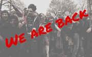 Zombies mit Aufschrift We are back